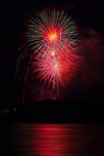 Dillon Reservoir Fireworks 2015 59 by D Scott Smith