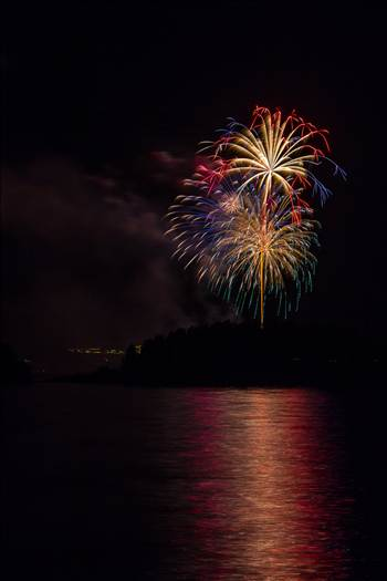 Dillon Reservoir Fireworks 2015 31 by D Scott Smith