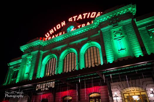 Denver Union Station at Christmas 1 by D Scott Smith