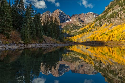 Maroon Bells and Maroon Lake No 2 by D Scott Smith