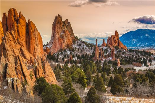 Garden of the Gods at Sunset -