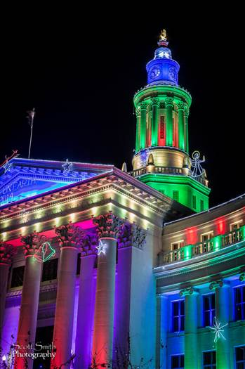Denver County Courthouse at Christmas 3 by D Scott Smith