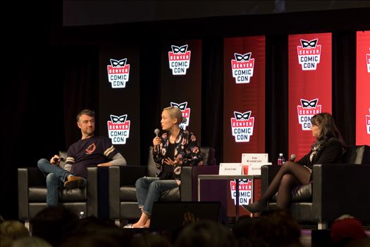 Guardians of the Galaxy's Sean Gunn and Pom Klementieff at Denver Comic Con 2018 by D Scott Smith