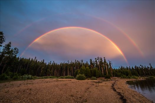 Double Rainbow at Turquoise Lake by D Scott Smith