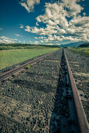 On the Tracks - Railroad tracks outside of Leadville, Colorado.