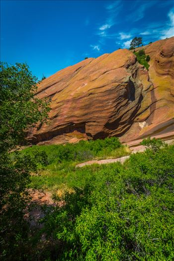 Red Rocks Park - From the Trading Post in Red Rocks Park, a brilliant blue-bird sky brings out all the colors in the area\u0027s geological features.