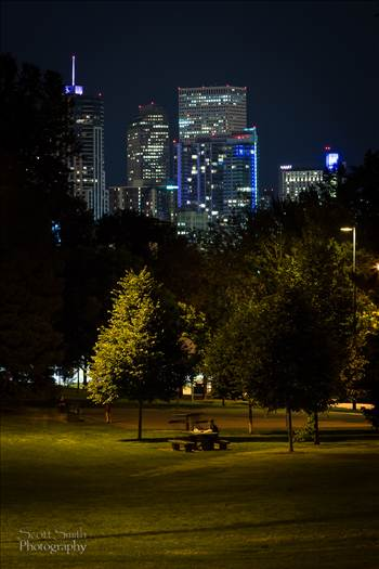 Downtown Denver from Jefferson Park by D Scott Smith