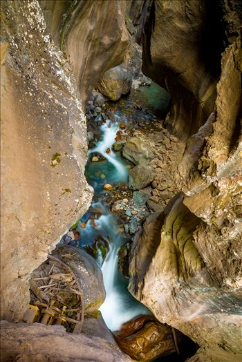 Ouray Box Canyon Falls 2 by D Scott Smith