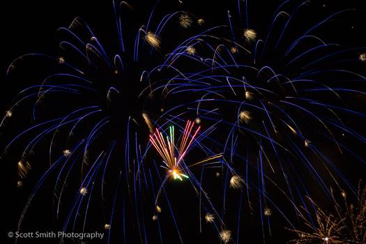 Fireworks in Denver 2 by D Scott Smith
