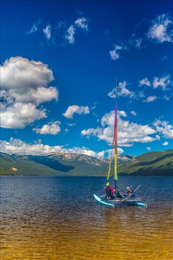 Sailing at Turquoise Lake by D Scott Smith
