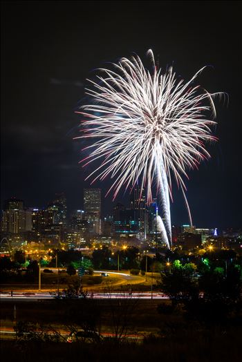 Elitch's Fireworks 2016 - 3 - Fireworks from Elitch Gardens, taken near Speer and Zuni in Denver, Colorado.