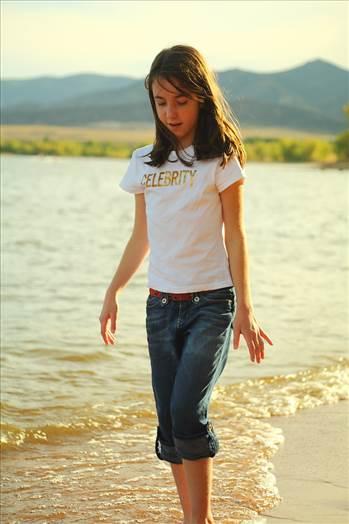 Allie on the Beach by D Scott Smith