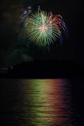 Dillon Reservoir Fireworks 2015 49 by D Scott Smith