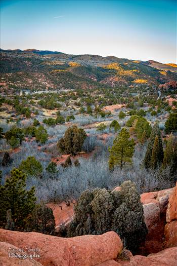 Sun Setting at Garden of the Gods by D Scott Smith