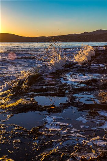 Sunset at Shell Beach 4 by D Scott Smith