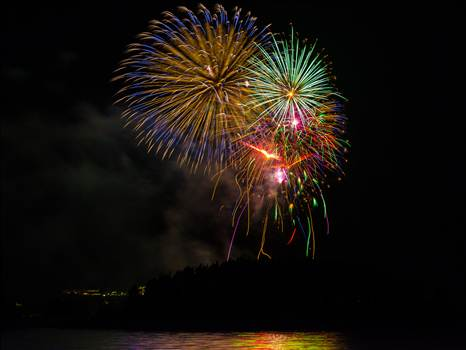 Dillon Reservoir Fireworks 2015 5 by D Scott Smith