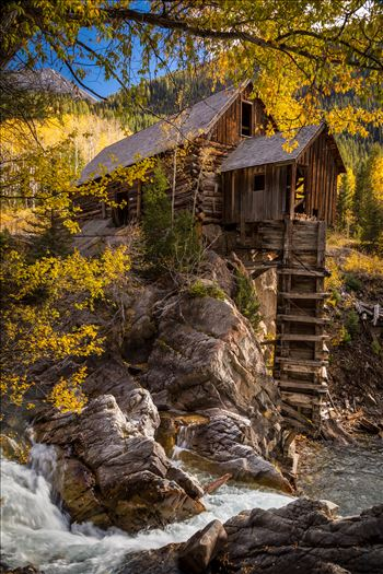 Crystal Mill No 2 - The Crystal Mill, or the Old Mill is an 1892 wooden powerhouse located on an outcrop above the Crystal River in Crystal, Colorado