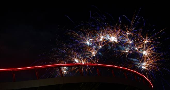 Mile High Fireworks - Fireworks over Mile High Stadium