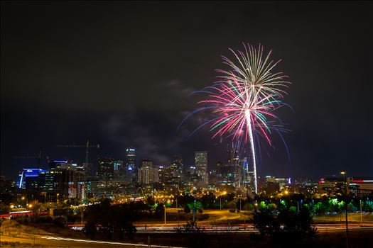 Elitch's Fireworks 2016 - 6 - Fireworks from Elitch Gardens, taken near Speer and Zuni in Denver, Colorado.