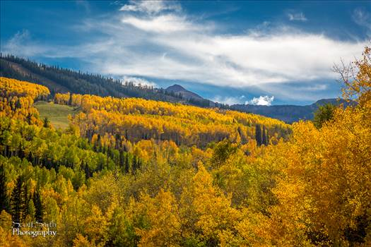 The fall colors seen from Snowmass, Colorado.