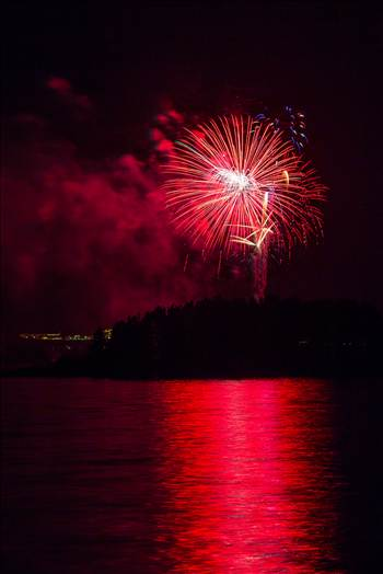 Dillon Reservoir Fireworks 2015 19 by D Scott Smith
