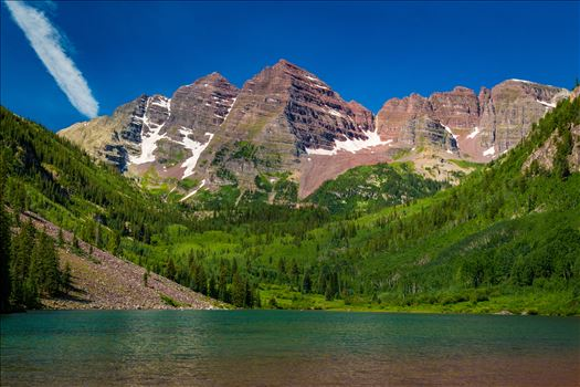 Maroon Bells in Summer No 04 by D Scott Smith
