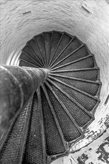 Old Cape Henry Lighthouse Steps by D Scott Smith