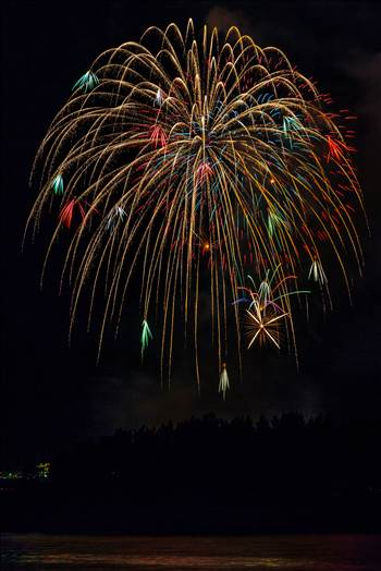 Dillon Reservoir Fireworks 2015 9 by D Scott Smith