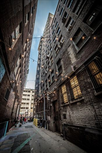A back alley in Denver Colorado, during the 2015 Zombie Crawl.