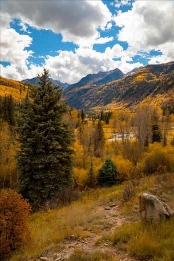 Fall Hiking Near Redstone, Colorado - A trailhead between Marble and Redstone, Colorado.