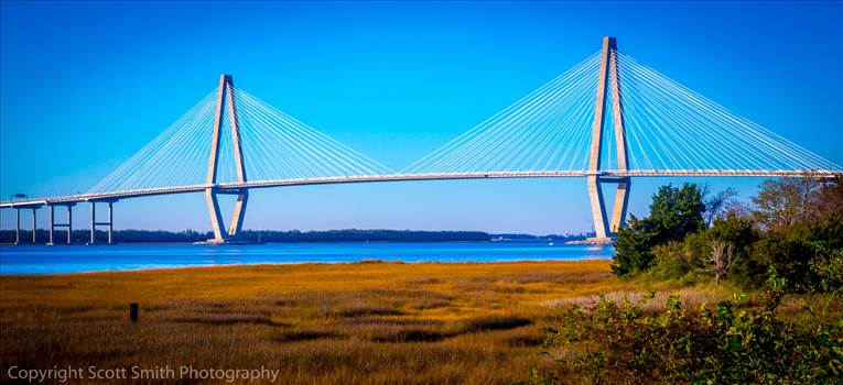 Arthur J Ravenel Bridge in Charleston by D Scott Smith