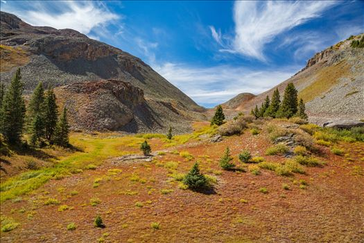 Near the summit of Ophir Pass, between Ouray and Silverton Colorado in the fall.