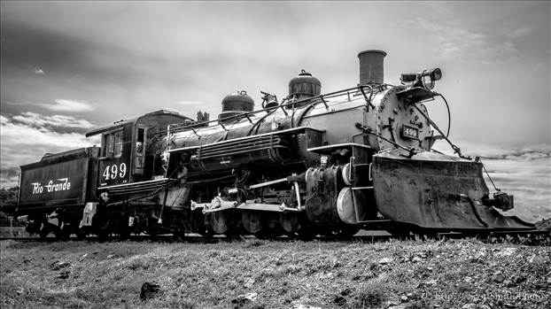 All Aboard - An old engine sits near the edge of the Royal Gorge in Canon City Colorado.