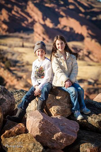 Allie and Holden Red-Rockin' - My kidlings taking a break from a day of Geocaching around Morrison, CO.