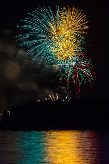 Dillon Reservoir Fireworks 2015 2 by D Scott Smith