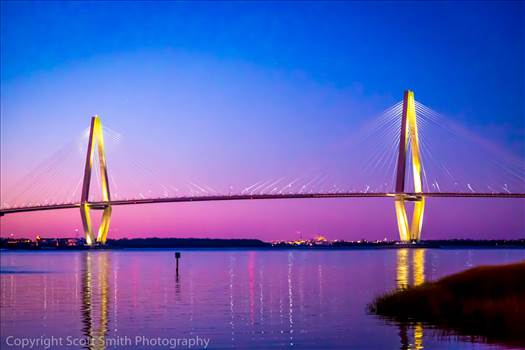 Arthur Ravenel Jr. Bridge At Sunset - Arthur Ravenel Jr. Bridge from Patriot's Point.