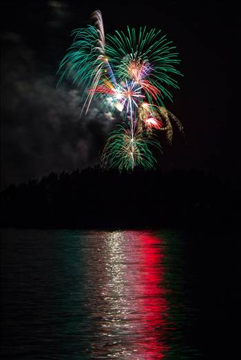 Dillon Reservoir Fireworks 2015 22 by D Scott Smith