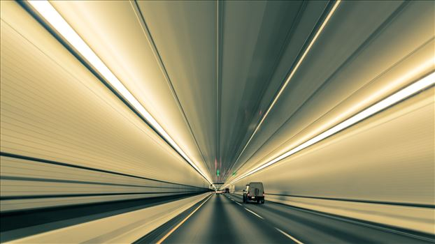 Converging Lines in Eisenhower Tunnel by D Scott Smith