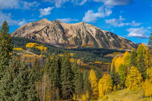 East Beckwith mountain from Kebler pass near Crested Butte, Colorado.