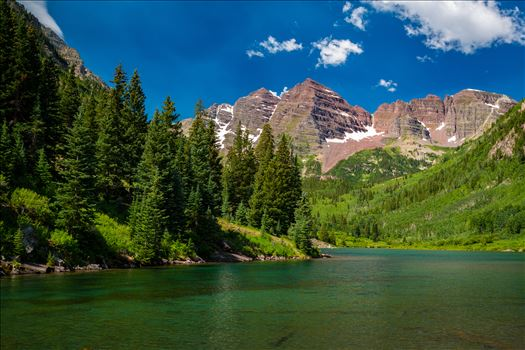Maroon Bells in Summer No 11 by D Scott Smith