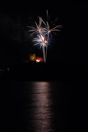Dillon Reservoir Fireworks 2015 46 by D Scott Smith